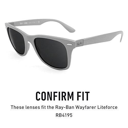 Verres de rechange pour Ray Ban Wayfarer Liteforce RB4195 — Plusieurs options Titanium MirrorShield® - Polarisés