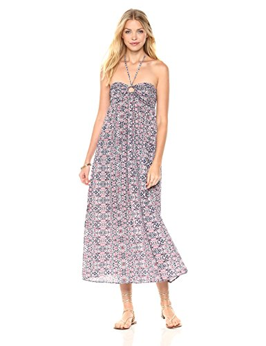 Peace Love Maxi Women's Spaghetti Strap Halter Dress