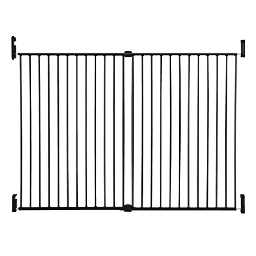 Dreambaby Broadway Extra Wide and Tall Expandable Gate with Track It Technology, Black