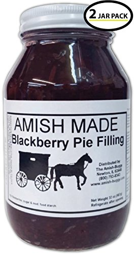 Berry Pie Filling - Amish Pie Filling Blackberry - TWO 32 Oz Jars