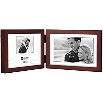 Amazon.com - Malden Double Horizontal 4x6 Picture Frame - Wide Real ...