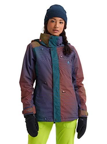 Burton Women's Jet Set Jacket, Gradient Spun Out Out, X-Small (Snowboarding Set Women)