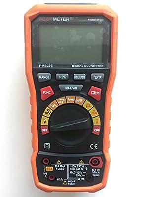 PEMKMETER MS8236 6000 Count Multifunctions LCD Digital Multimeter Voltage Tester