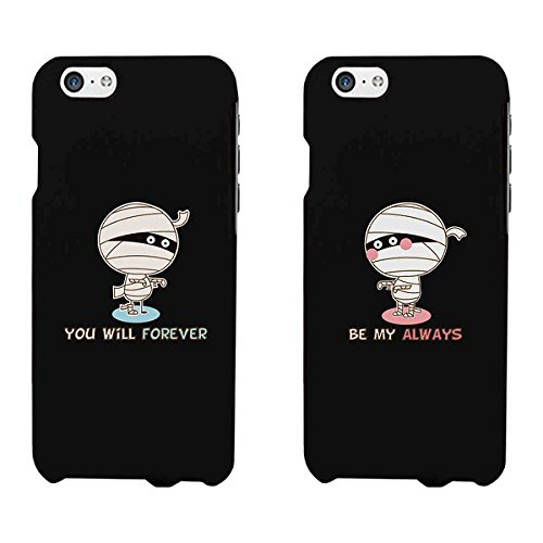 365 Printing Forever Always Mummies Black Matching Couple Phone Cases Halloween -