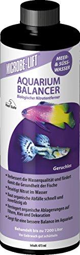 MICROBE-LIFT Aquarium Balancer - Wasseraufbereiter, Bakterienpräparat, Nitratentferner für Aquarien - 473 ml
