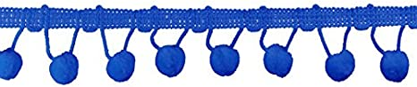 Ball Fringe 1-1//8 Wide 9 Yards Black