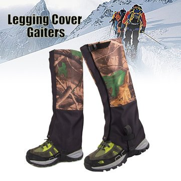 (1 Pair Camouflage Waterproof Outdoor Climbing Hiking Snow Gaiters Leg Cover Boot Legging Wrap - Ski & Snowboard Winter Travel Accessories)