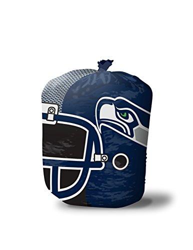 NFL Seattle Seahawks Stuff-A-Helmet Lawn & Leaf Bag, Large/57 gallon, Blue (Seattle Lawn Seahawks)