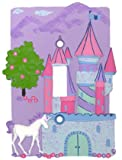 Fairy Tale Castle Unicorn Single Light Switch Plate Cover Girl Bedroom Decor