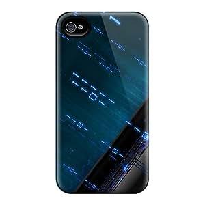 Cute High Quality Iphone 4/4s Blue Binary Case
