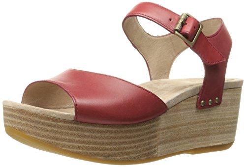 Dansko Women's Silvie Platform Sandal - Red Burnished - 3...