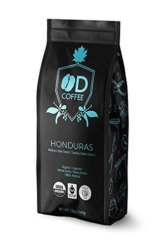 OD Coffee Fair Trade Organic Honduras Medium Dark Roast Coffee 12oz/340gr