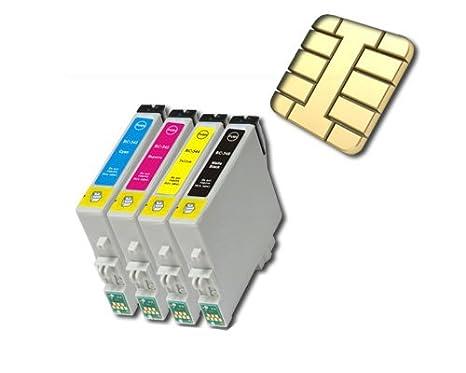 4 Cartuchos de impresora compatible para Epson Stylus DX3850 ...