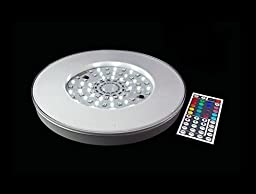 Fortune Products LB-10WMC-RC Maxcolor Remote Control LED Light Bases, 10 in.