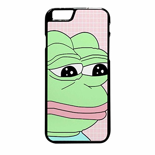 Aesthetic Pepe Frog Case / Color Black Plastic / Device iPhone 6 Plus/6s Plus