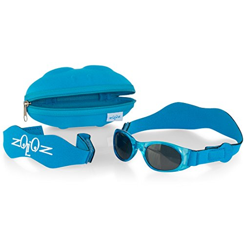 Tuga Baby / Toddler UV 400 Sunglasses w/ 2 Straps & Case, - Boy Sunglasses Baby
