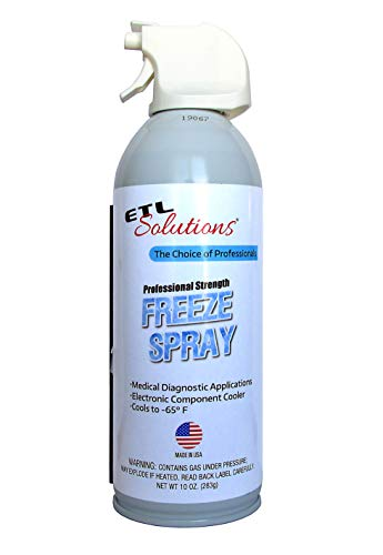 ETL Solutions Professional Strength Medical Freeze Spray, Cools Down to -65°F in Seconds, 10oz (283ml)
