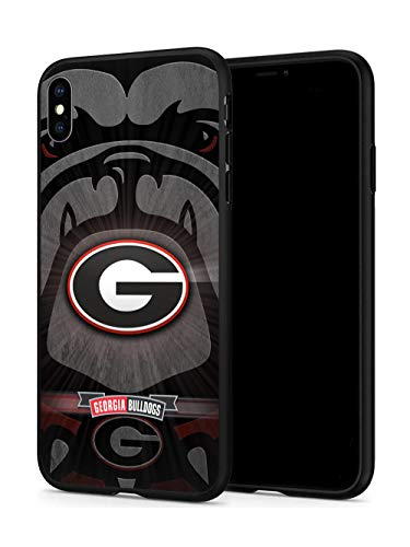 T-GO iPhone X Case iPhone Xs Case, Hard Plastic & Silicone Rubber Bumper Protective Case for iPhone X/iPhone Xs(5.8-inch Display) (GB-Bulldogs)
