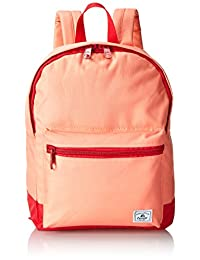 Everest Two-Tone Classic Backpack, Coral, One Size