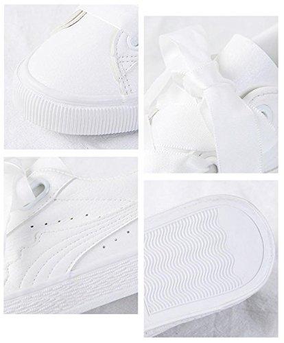 Pink Zapatos De Casual Estudiante Plano Y con Deporte Zapatos Primavera Encaje De Yrps Otoño Op6qO