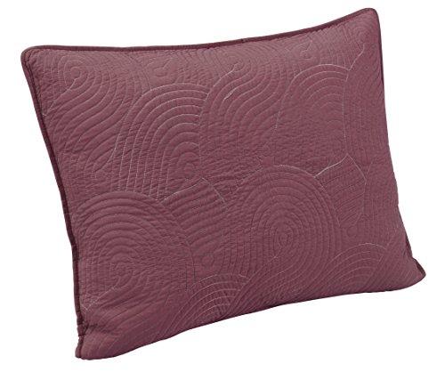 Brielle Wave Reversible Sham Set, Standard, Deco Rose/Grey by Brielle