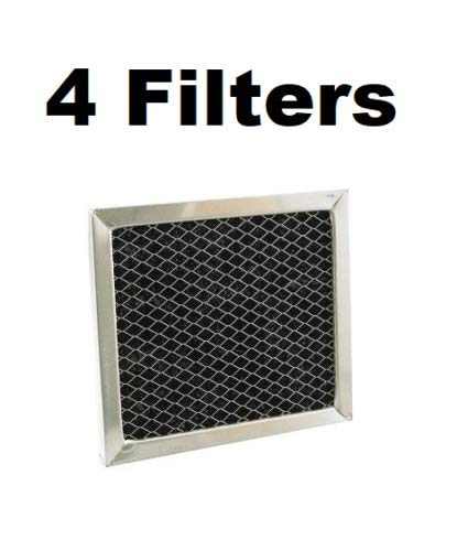 Filters for Broan BPSF30 97007696 Microwave Charcoal Filter Range Hood - 4 Pack