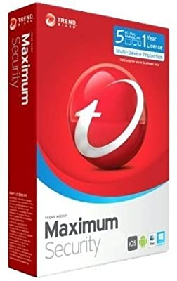 Trend Micro Maximum Security | 2017 (5 PC's- 1 Year) No CD- Only key via email