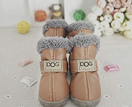 Winter Dog Boots Skidproof Soft Snow