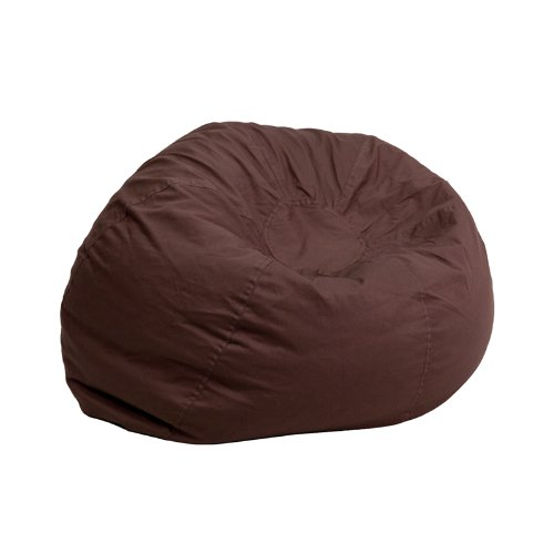 Flash Furniture Small Solid Brown Kids Bean Bag Chair DG-BEAN-SMALL-SOLID-BRN-GG