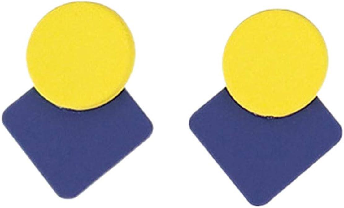 Mnory Salvaje Hipoalergenicos Hoop Pendientes Sencillos Petite Perforación Mode Géométrie Eardrop Temperamento Dulce Pendientes Sin Níquel Mujer Stud Earring