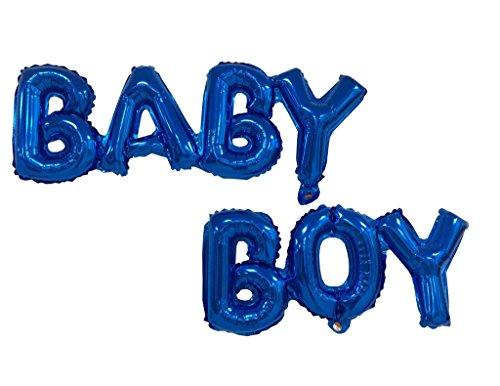 SGODA 10 inch Baby Boy Foil Mylar Balloons for Birthday Party Decoration -