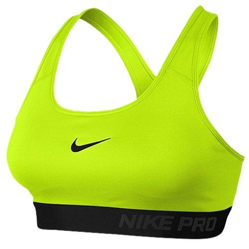 Nike Womens Pro Classic Padded Sports Bra - Medium - Volt/Black (Pro Womens Sports Bra)