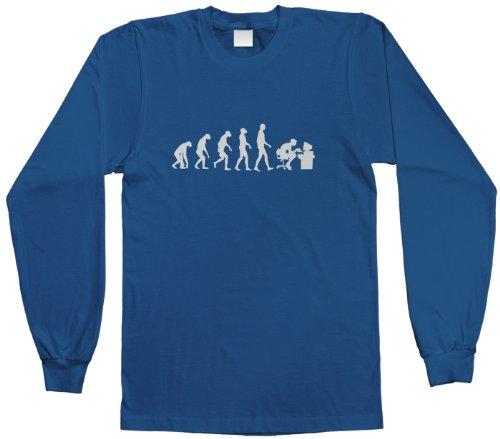 Threadrock Big Boys' Gamer Evolution Youth Long Sleeve T-Shirt XL Royal - T-shirt Evolution Kids