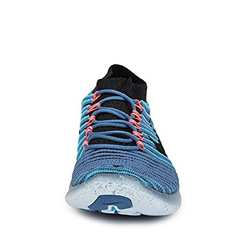 Nike Womens Free Rn Motion Flyknit 834585 402 Nebbia Delloceano / Nero / Blu