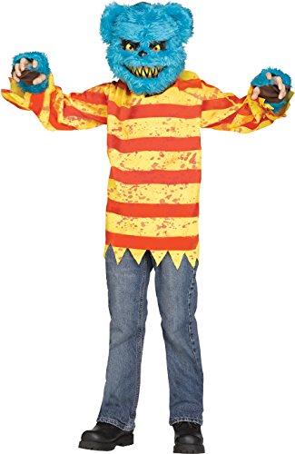 Killer Bear Costume,Blue / Yellow / Red,Medium (8-10) for $<!--$15.79-->