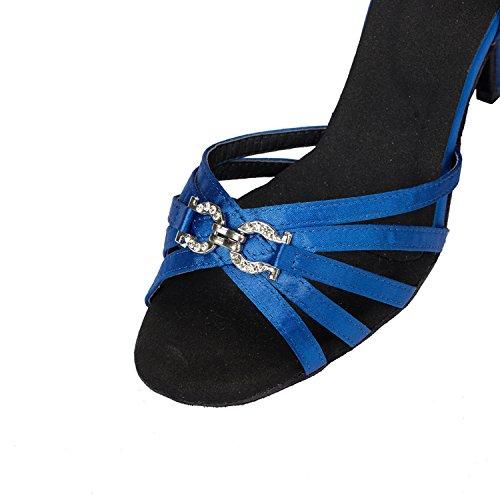 Sandali blue Da Tracolla Th063 Donna nbsp;borsa A Sposa 35 Raso Blu Latino Minitoo Taogo Ballo R1UPx