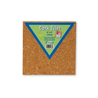 Flipside 12066 Cork Tiles 4 Pack - Case of 12