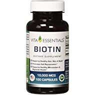 Vita Essentials Biotin Capsules, 10000 Mcg, 100 Count