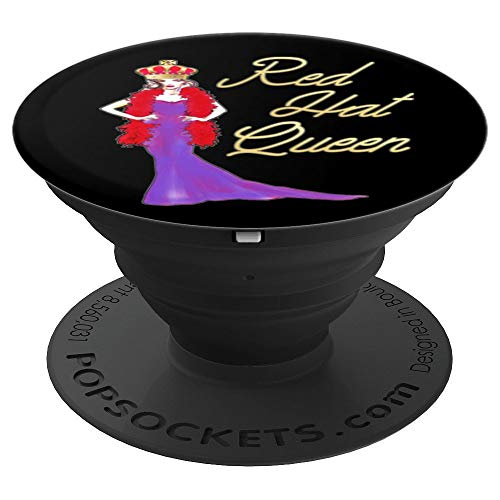 (Red Hat Society Queen Elegant Vintage Gift PopSockets Grip and Stand for Phones and Tablets)