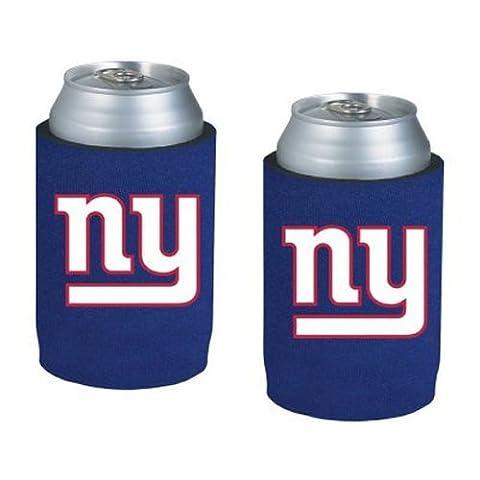 NFL Football Can Insulators - Neoprene Beer Can Kolder Holders, Set of 2 (Giants)