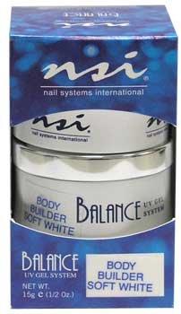 NSI Balance UV Gel - Body Builder Soft White - 0.5oz / 15g
