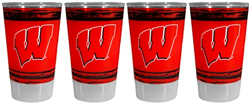 Whirley Drink Works NCAA Wisconsin Badgers 16oz Plastic Tumbler Set
