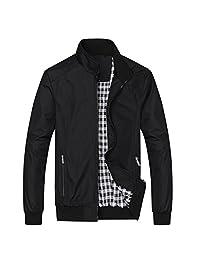Nantersan Mens Casual Outdoor Sportswear Lightweight Bomber Jackets and Coats Windbreakers