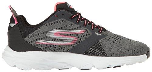 Skechers Performance Damen Go Run Ride 6 Outdoor Fitnessschuhe Grau (Charcoal/hot Pink)