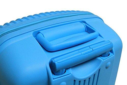 Xiuxiandianju business e 20 pollici 24 pollici universale per ruote trolley valigia ABS impermeabile e resistente all'usura cabina viaggio borsa (blu)