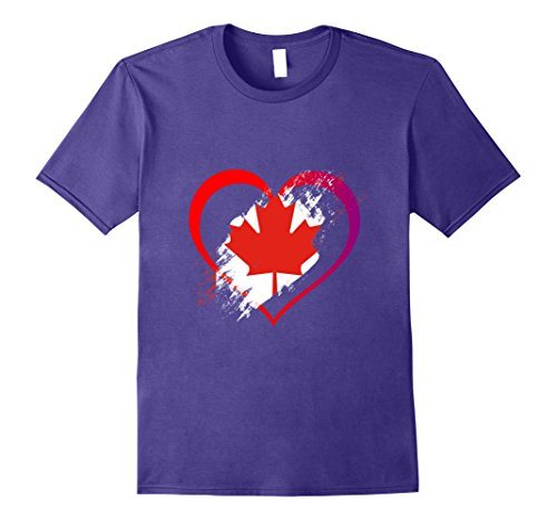 Canada Heart Valentineu0027s Day Shirt Women Girls Top