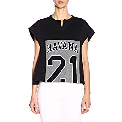 N??21 Women S E10142149000 Black Cotton Sweatshirt