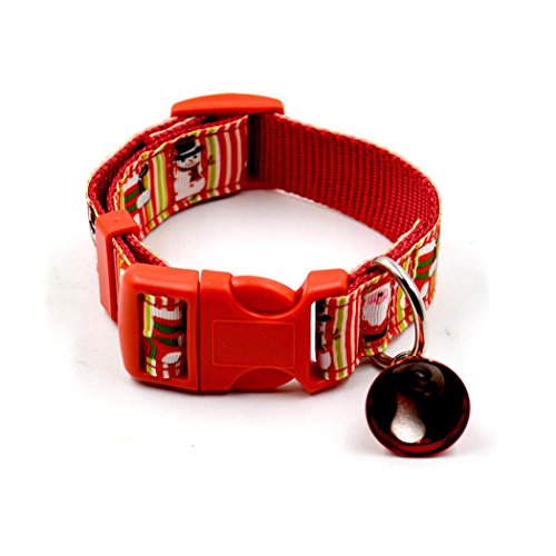 Diy Red Riding Hood Halloween Costume (Dog Collar, Bolayu Christmas Design Christmas Pet Collars (S, Red))