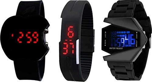 31f79f139 Buy Swadesi Stuff Combo of 3 Digital Black Dial Kids Watches Online ...