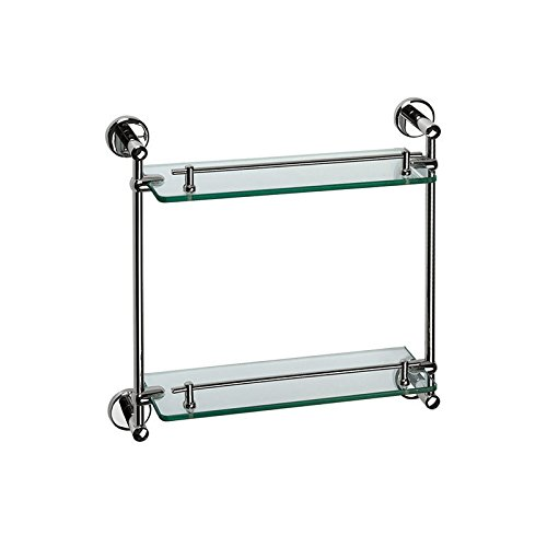 Yomiokla Bathroom Accessories - Kitchen, Toilet, Balcony and Bathroom Metal Towel Ring Glass racks full copper double-glazed windows built-in shelf with